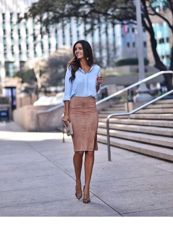 Shirt and skirt with nice accessories