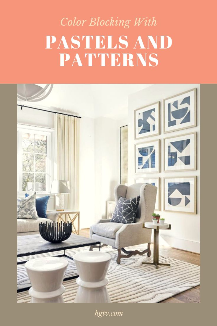 Pastels and softer patterns give new reasons to crush on this two-toned take on furniture, walls and accessories.