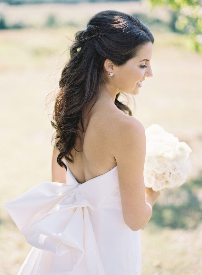 Featured Photographer: Ashley Cox Photography; Wedding hairstyles ideas.