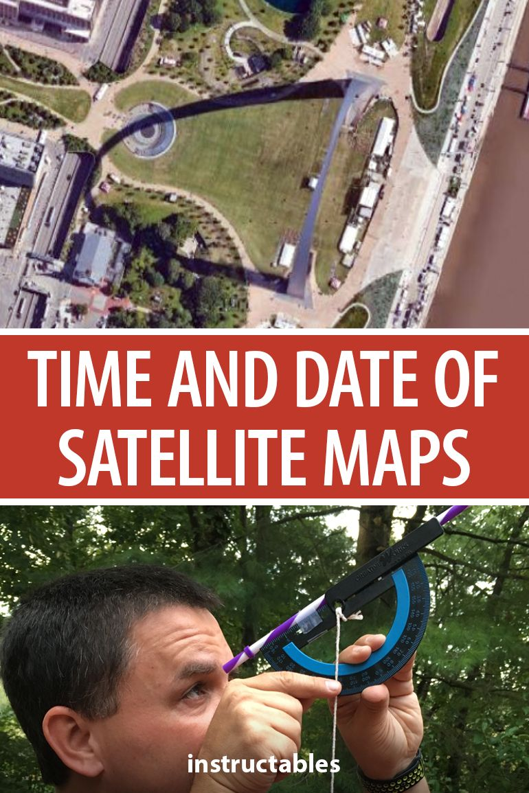With knowledge of geometry and trigonometry, you can figure out the date and time of different satellite map photos. #Instructables #education #astronomy #google #seasons #students #teacher #lesson