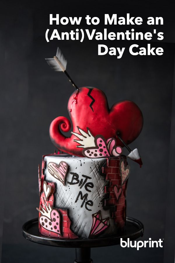 How to Make an (Anti)Valentine's Day Cake