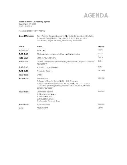 agenda template word | resume-template.paasprovider.com