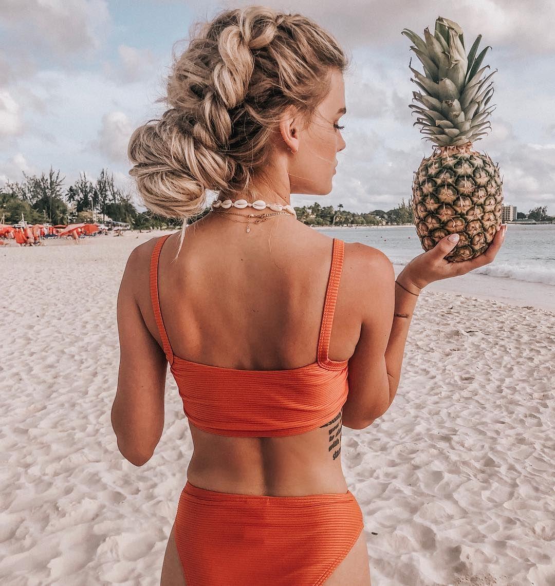 "Chrissy Rasmussen on Instagram: ""Pineapple 🍍 Beach 🏝 // by @hairby_chrissy w/ @lindseyraerogers & @habitextensionmethod"""