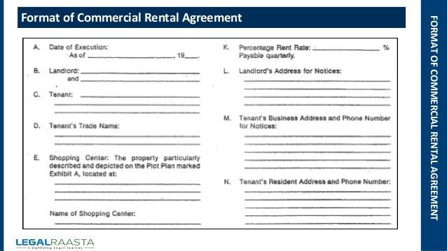 Office Rental Agreement Format madebyrichard - commercial agreement format