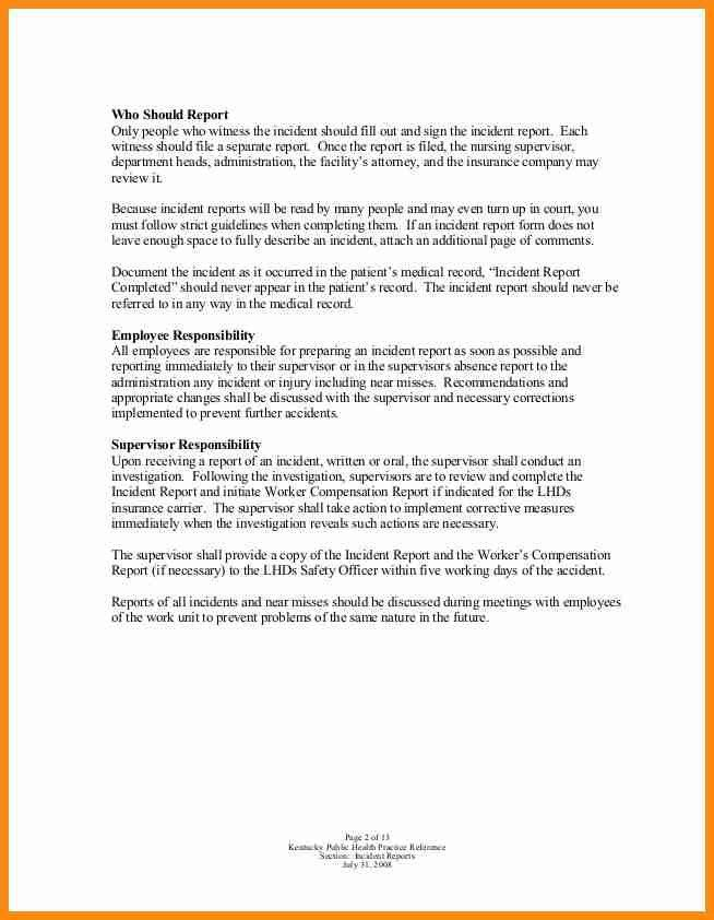 Medical Incident Report Sample 10 Incident Report Templates Free - how to write an incident report