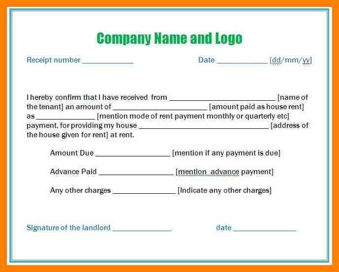 house advance payment receipt format - Kardasklmphotography