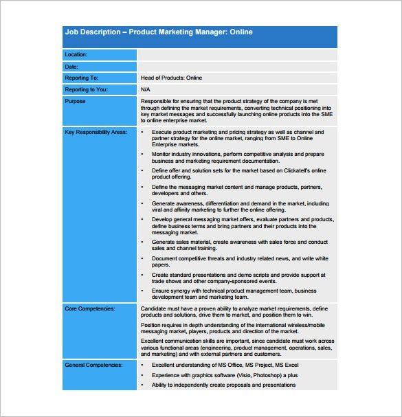 international marketing director job description international