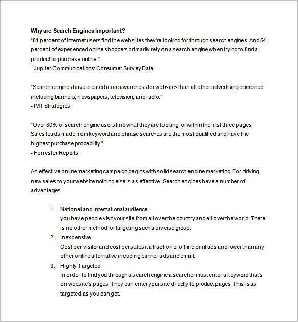 Marketing Proposal Template Sample Marketing Proposal Template 6 - purchase proposal sample