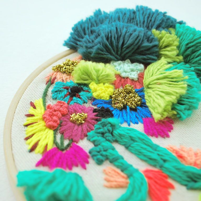 Tactile Textile Art Inspired by Floating Gardens by Katy Biele