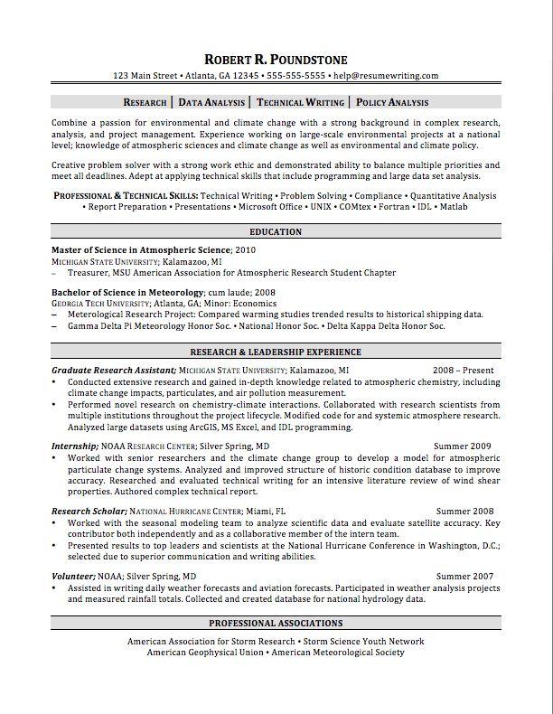 Graduate Student Resume Sample Graduate Student Resume Example - resume examples for graduate students