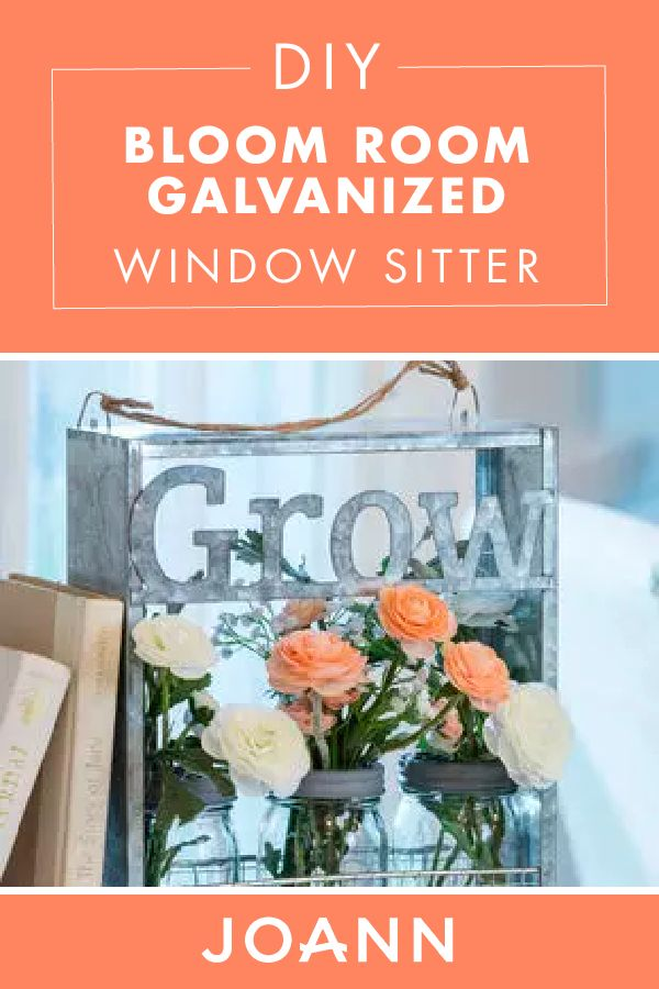 For simple and beautiful spring decor, look no further than this DIY Bloom Room Galvanized Grow Window Sitter from JOANN! This easy-to-make project offers a natural touch to any space.