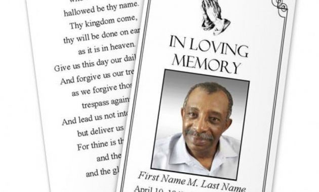 Free Funeral Template Free Funeral Program Template Microsoft - free download funeral program template