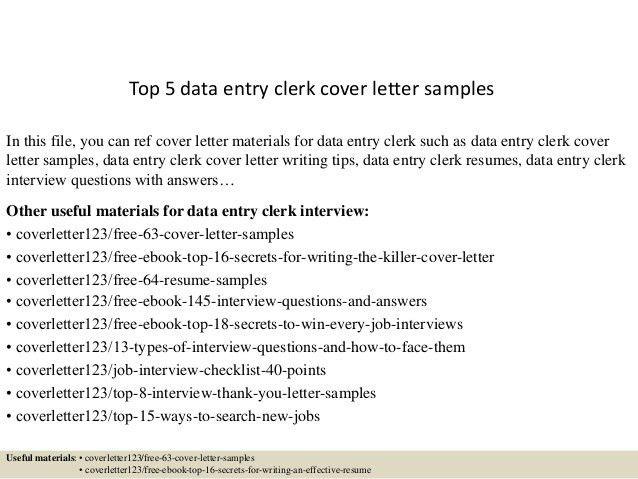 ... Data Entry Clerk Cover Letter Data Entry Clerk Cover Letter   Storeroom  Clerk Cover Letter ...