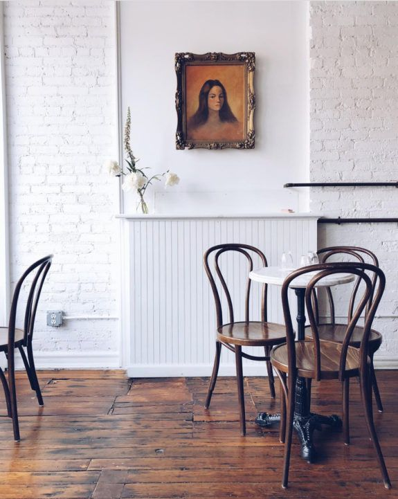 blogger and travel home book author @caitlinflemming's photograph of Brunette wine bar in kingston. #kingston #bentwoodchairs #art #artwork #travel #travelhomebook #photography #winebar #brunettewinebar #newyork #upstatenewyork #husdsonvalley