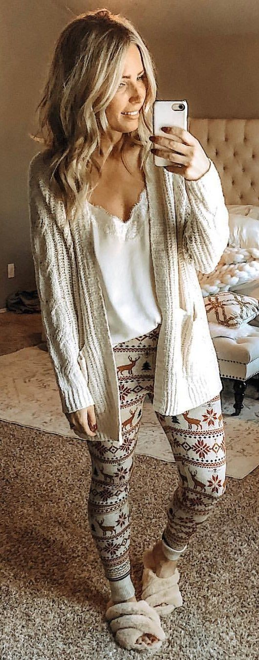 white knit open cardigan