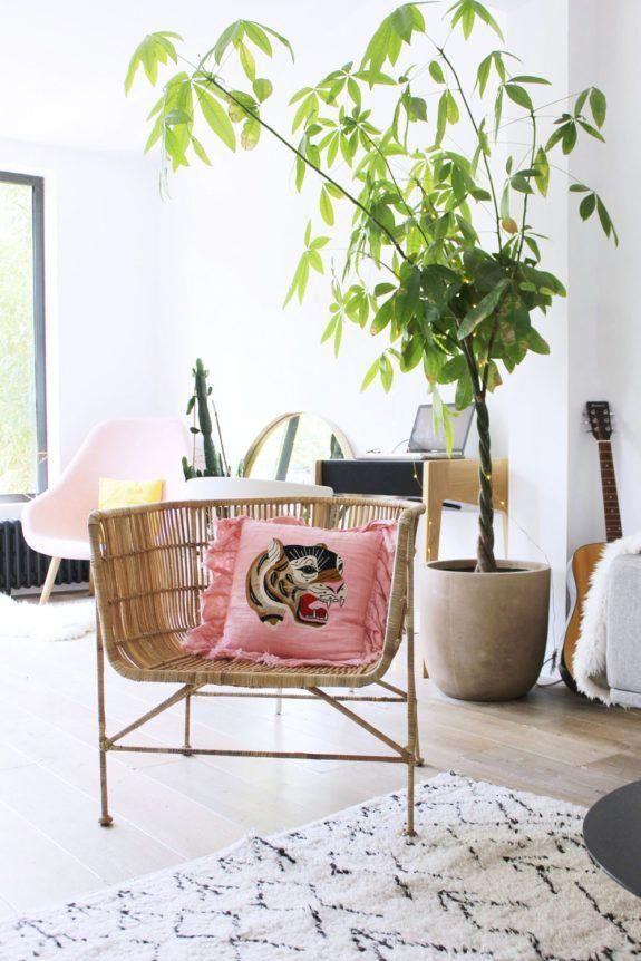 de mimbre silla en la moderna sala de estar. / sfgirlbybay #livingroomdecorcurtains