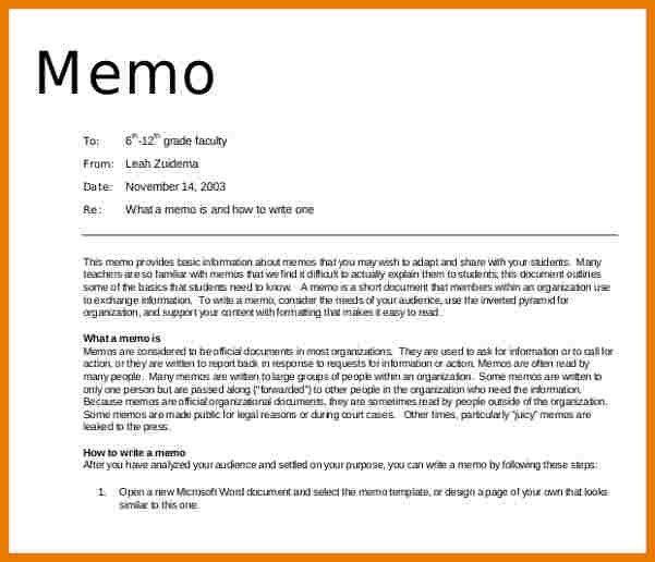 Example Memo 14 Professional Memo Templates Free Sample Example - formal memo