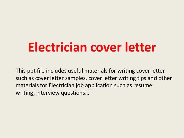 Commercial Electrician Cover Letter Cvresumeunicloudpl