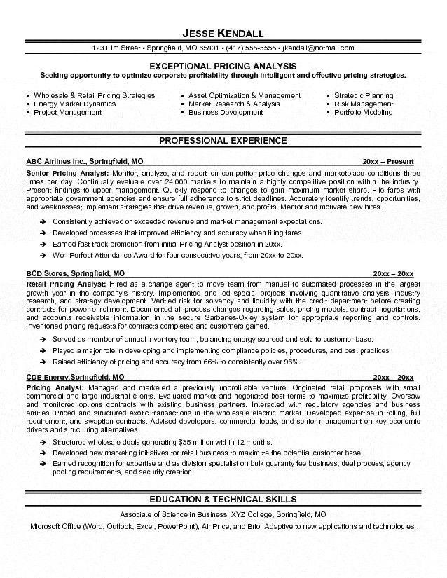 Budget Analyst Sample Resume Analyst Resume Example, Budget - business major resume
