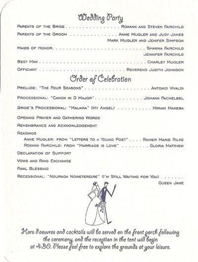 Wedding Programs Templates Wedding Program Template 61 Free Word - wedding agenda sample