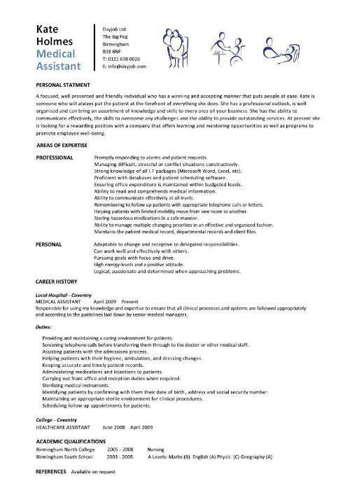 Objective For Medical Assistant Resume Medical Assistant Resume - medical assitant resume