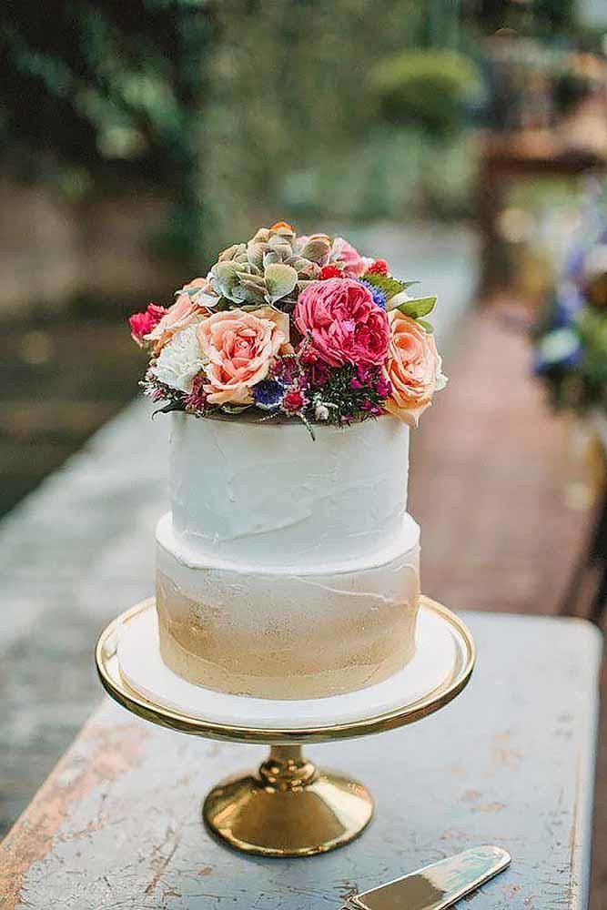 36 Small Wedding Cakes With Big Style ❤ small wedding cakes with big style 1 #weddingforward #wedding #bride
