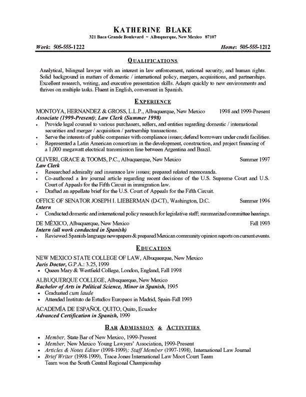 Brief Resume Format Brief Resume Format Resume Format Free Resume - legal resume format
