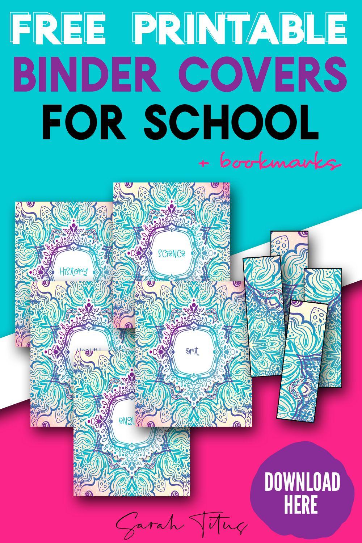 Free Printable Binder Covers For School