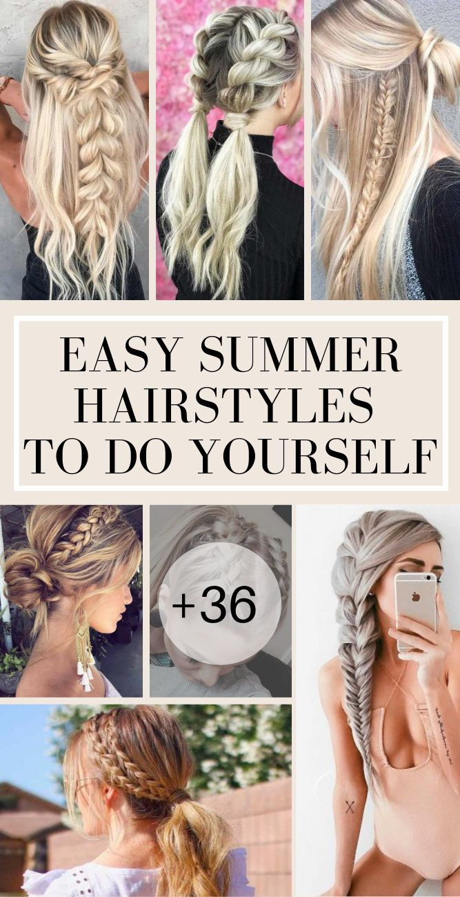 Easy Summer Hairstyles To Do Yourself #easyhairstyles #summerhairstyles #summerhair #glaminati