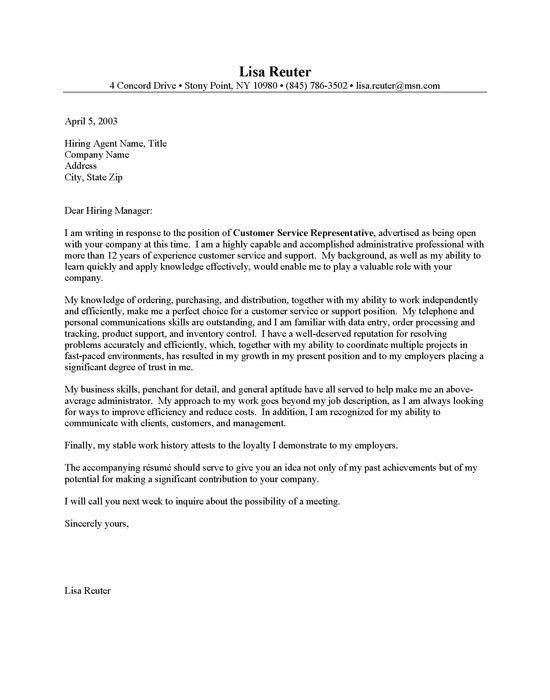 Customer Service Entry Level Elegant Cover Letter Template. Resume .  Airline Customer Service Agent Resume