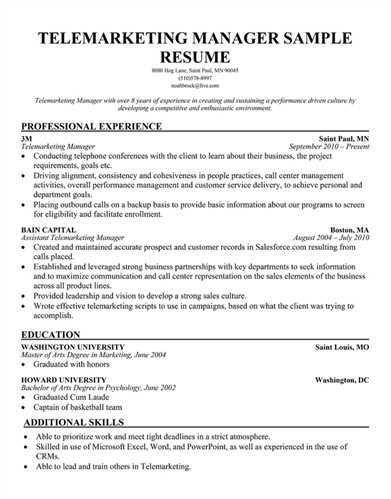 tele marketing manager resume telemarketer resume unforgettable - Telemarketing Resume Samples