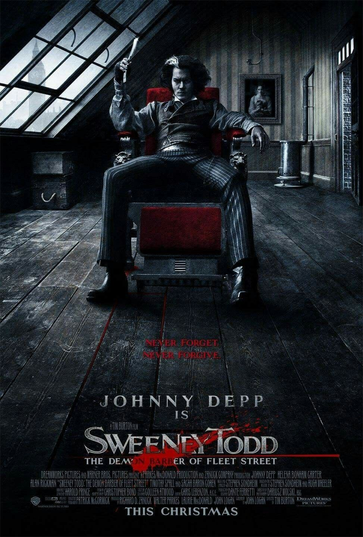 Sweeney Todd The Demon Barber Of Fleet Street Movie Poster Fantastic Movie Posters Scifimovies Posters Horrormovies P Sweeney Todd Musical Movies Johnny Depp