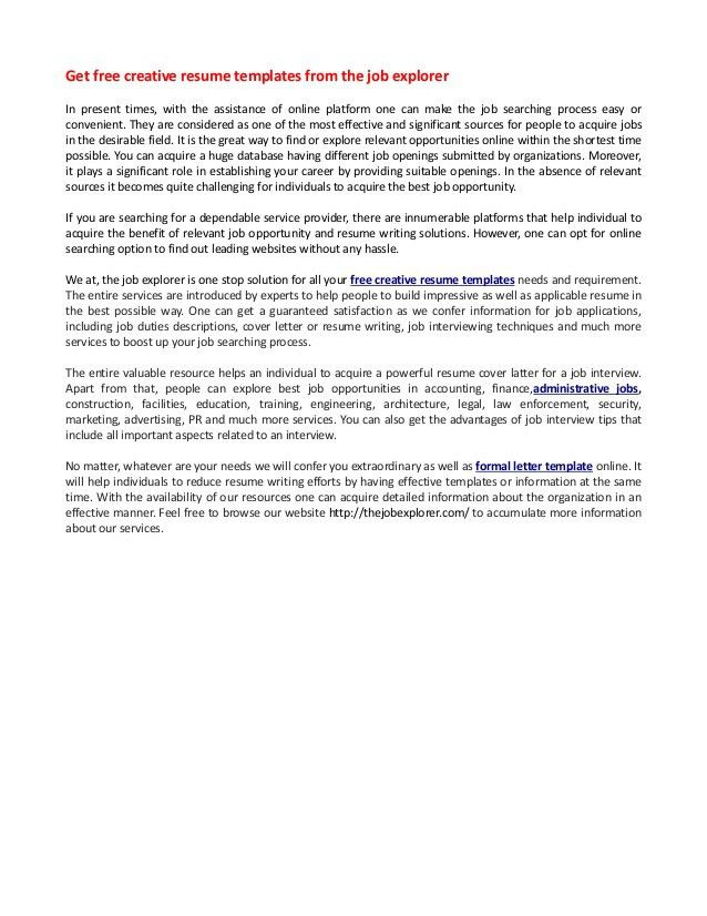 cover letter template online