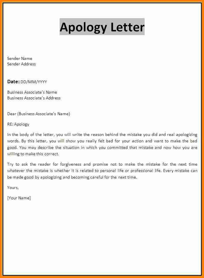 Examples Of Apology Letter Apology Letter Sample Apology Letter - formal apology letters