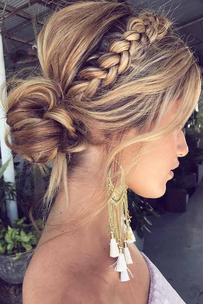 Braided Updo #blondehairstyles #updohair ★ Discover trendy easy summer hairstyles 2019 here. We have pretty ideas for long, short, and for medium hair. #glaminati #lifestyle #summerhairstyles