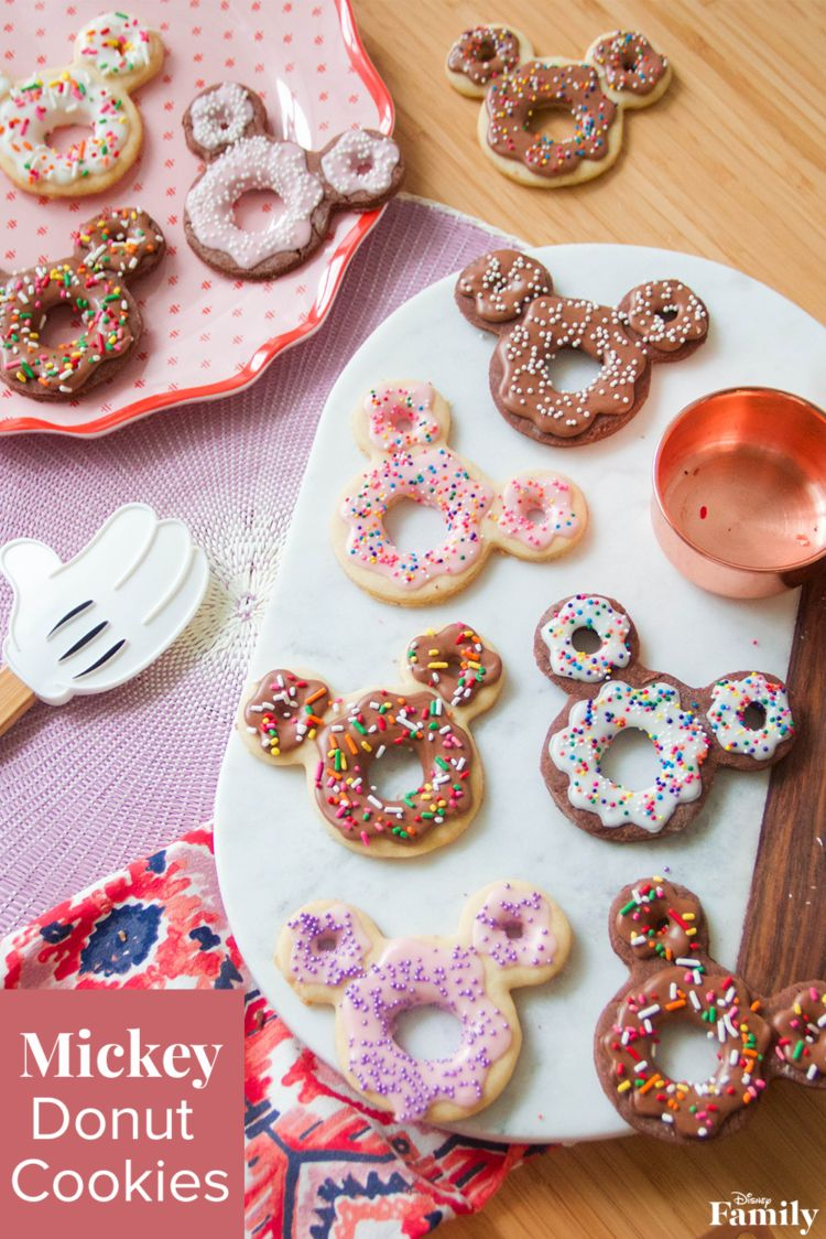 What do you get when you mix a donut, cookie, and Mickey? A Mickey Donut Cookie, of course! This dessert combination is a fun twist on a classic sugar cookie recipe. Your little ones will love joining you for a day of baking fun—and taste testing the final product. Click for the Mickey recipe.