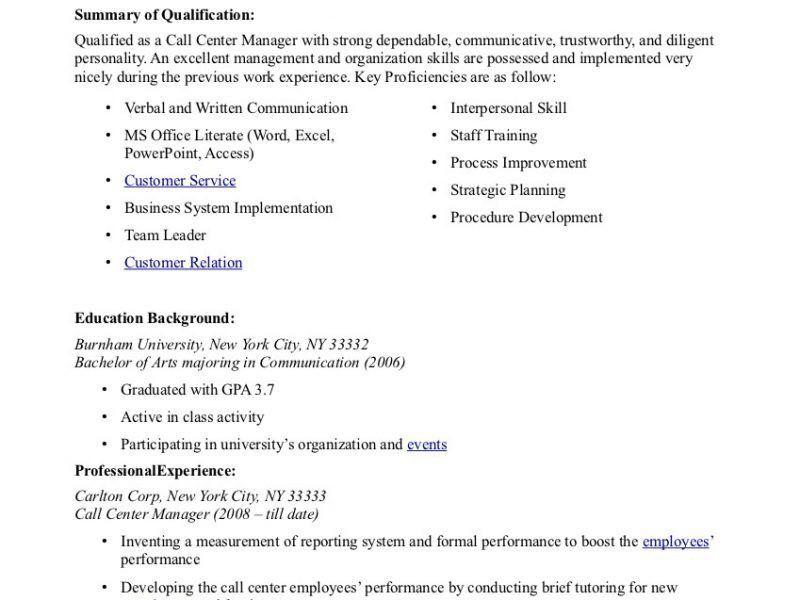 telemarketing skills for resumes
