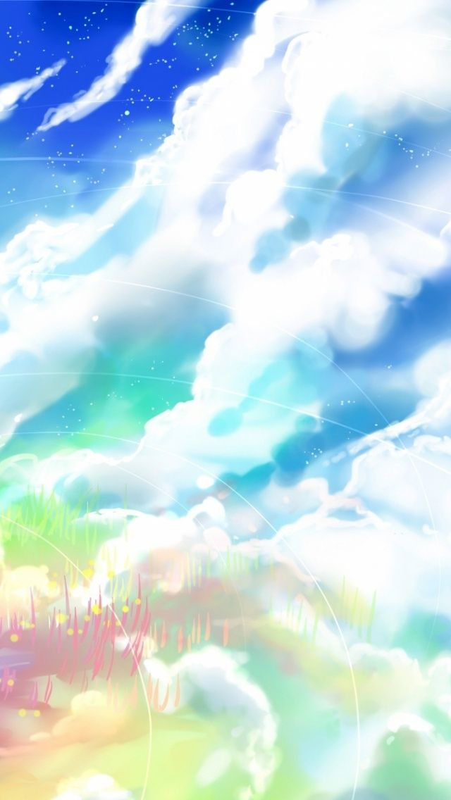 ↑↑TAP AND GET THE FREE APP! Art Creative Anime Asia Cartoon Multicolor Abstract Sky HD iPhone Wallpaper