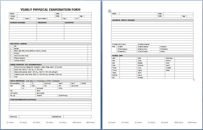 Blank Medical Forms School Medical Form Medical Form Forms Scott - medical form in pdf