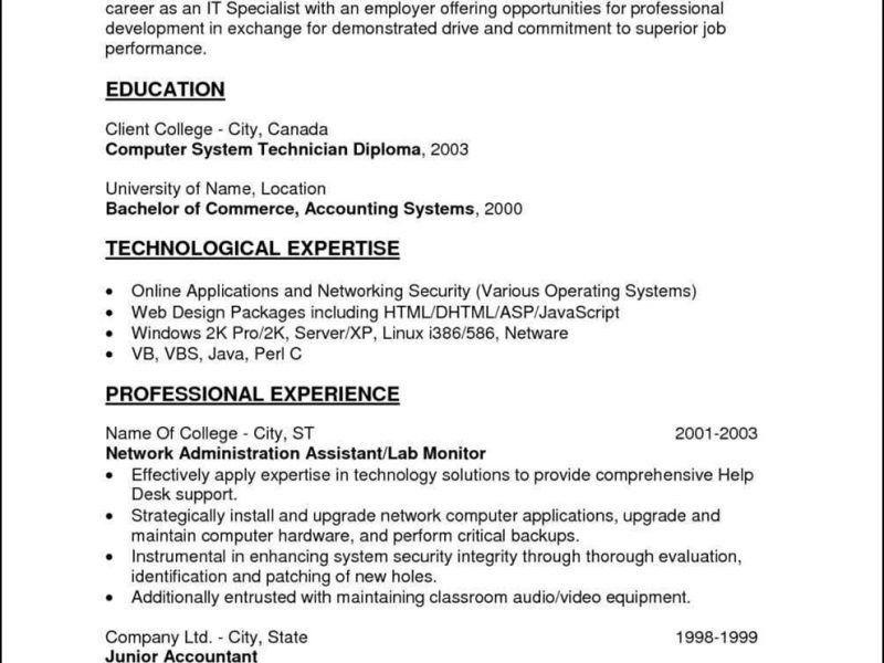 Network Technician Sample Resume Telecom Technician Resume - help desk technician resume