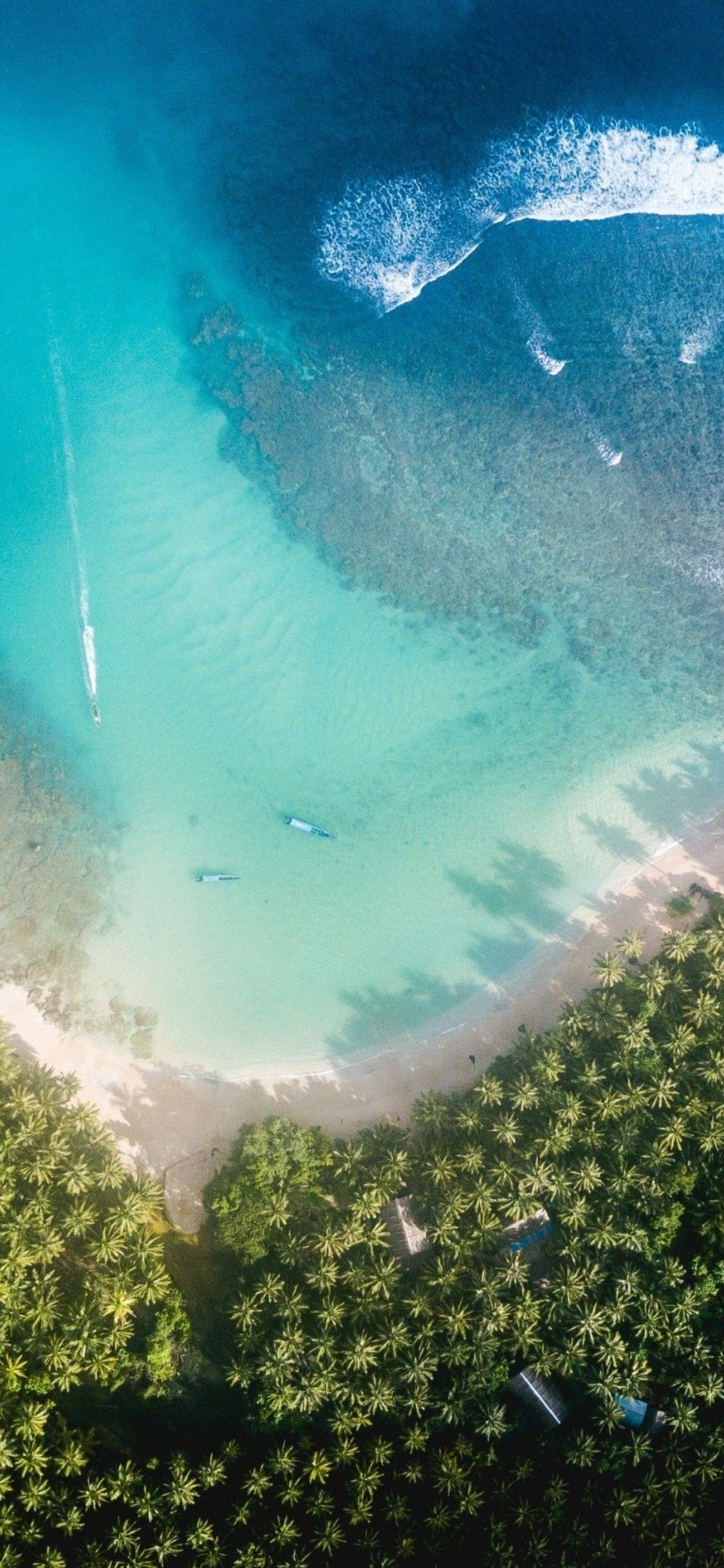 Ios 11 Iphone X Aqua Blue Water Beach Wave Ocean