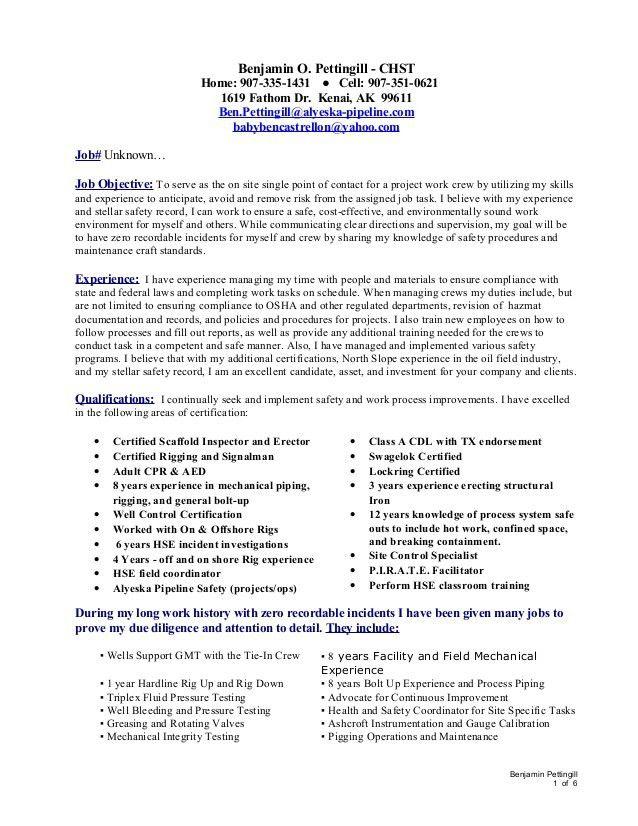 Safety Coordinator Resume. 100+ Sample Hr Coordinator Resume .  Safety Coordinator Resume