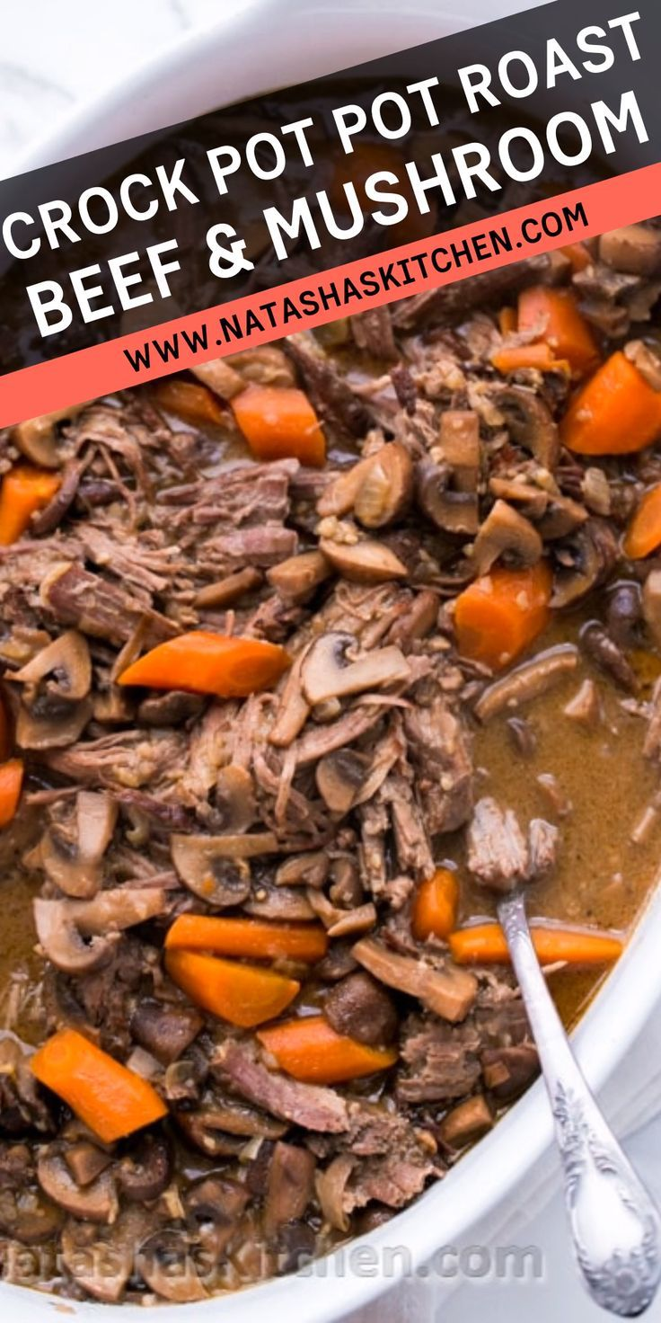 Beef and Mushroom Pot Roast (a Slow Cooker Recipe)