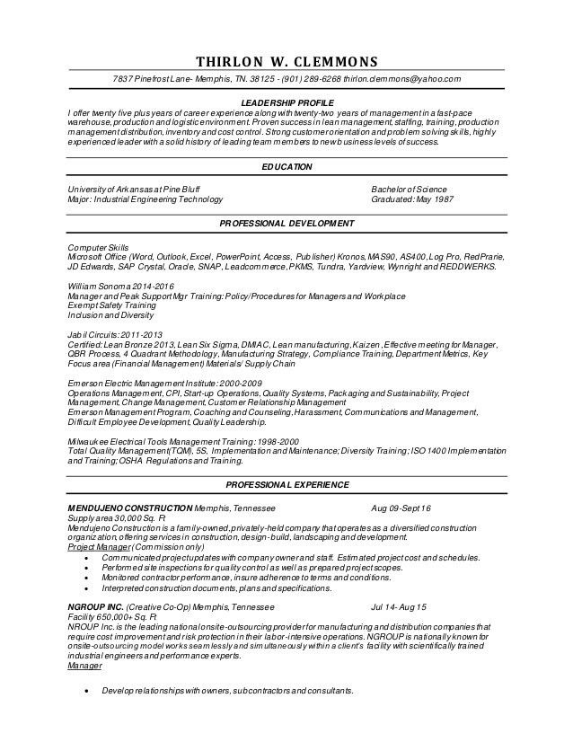 Kronos Implementation Resume Resume