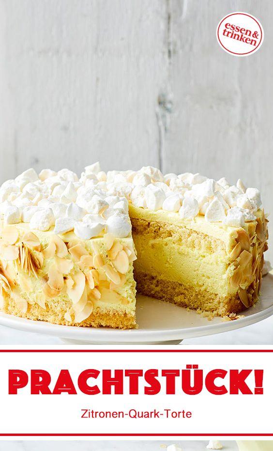 Rezept für Zitronen-Quark-Torte
