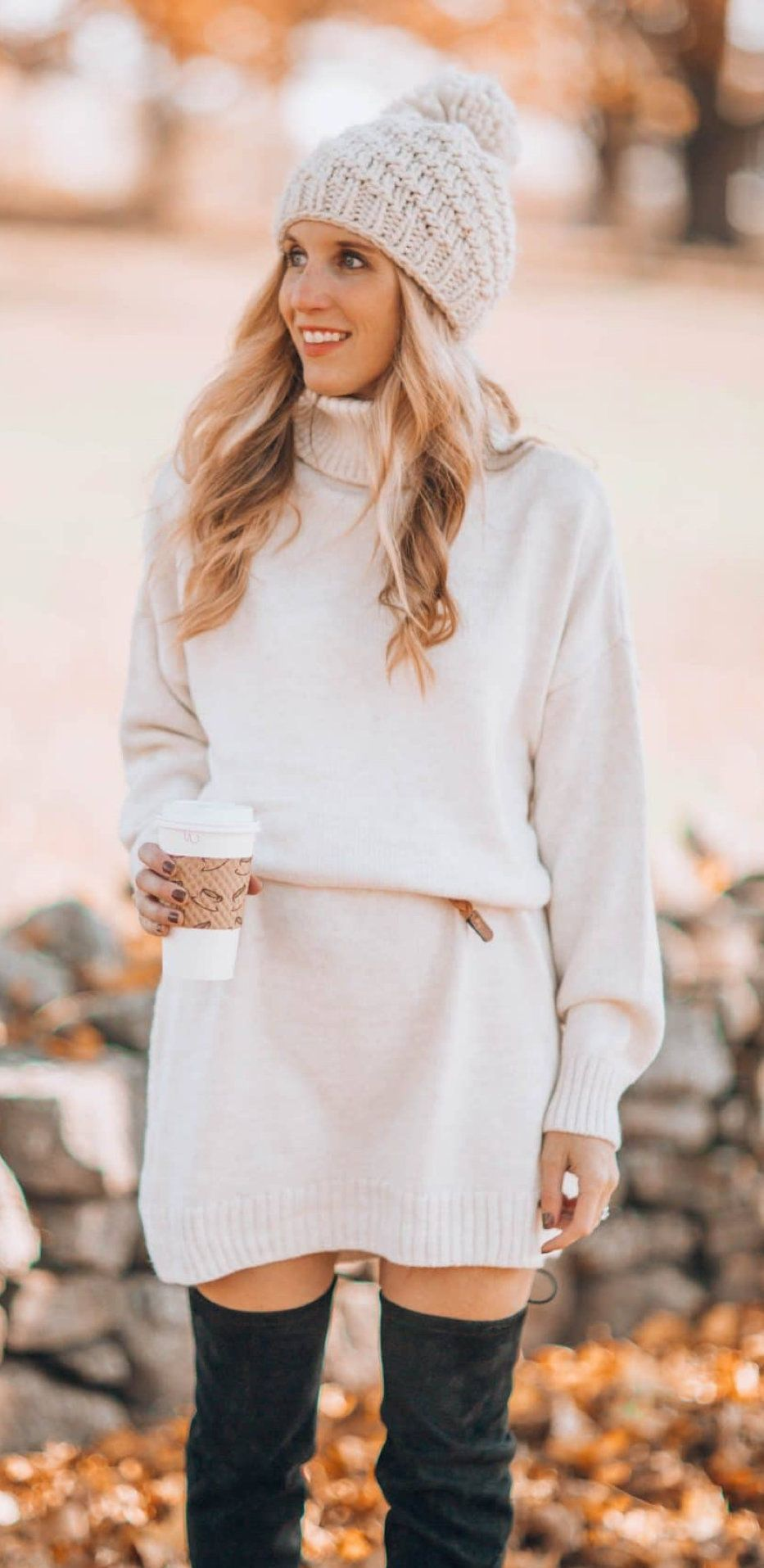 white long-sleeved dress