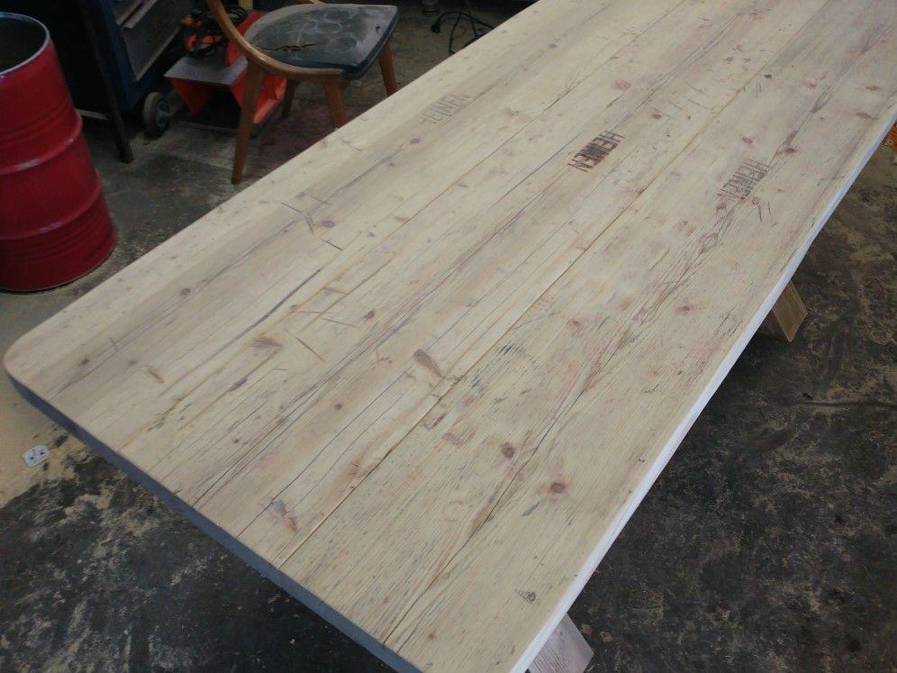Tisch Esstisch Gerüstbohle Bank Bauholz Holztisch Holz