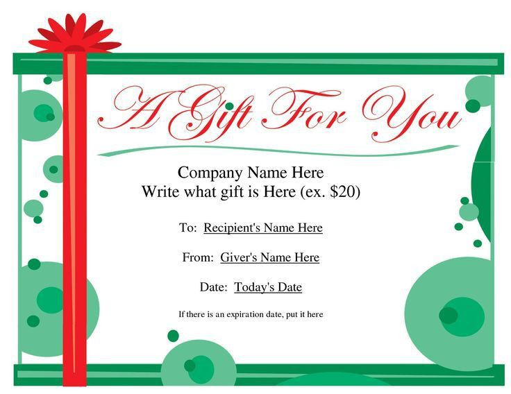 Hotel Gift Certificate Template Hotel Gift Certificate Template 7 - gift voucher template word