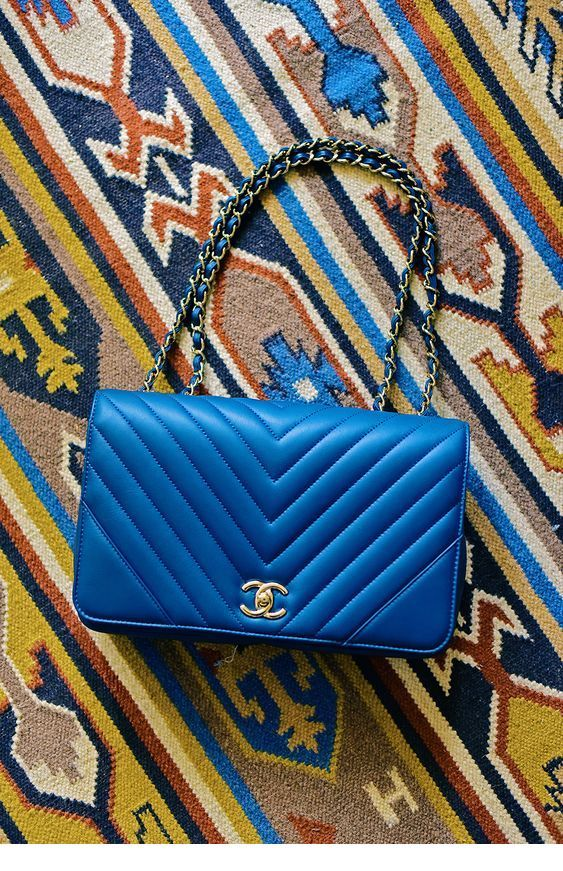 Glam blue Chanel bag