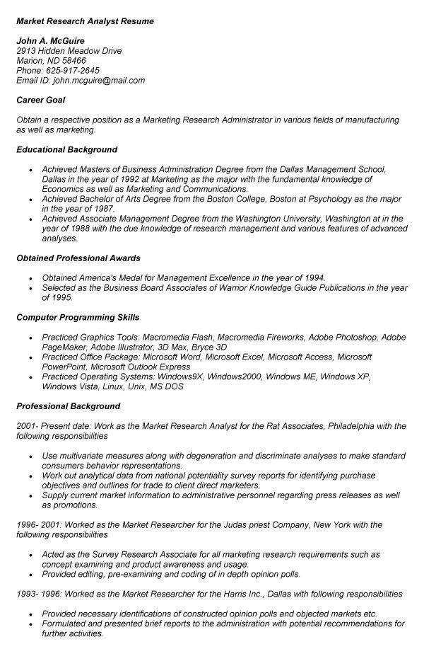 Research Administrator Sample Resume Research Administrator Sample
